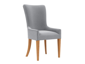 Carver Dining Chair Palermo Salon Silver