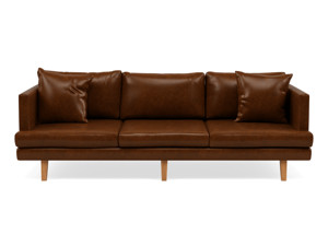 3 Seater Couch Orson Walnut Leather