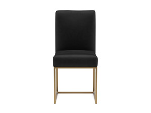 Dining Chair Vena Phantom Black Velvet