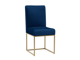Dining Chair Vena Eclipse Navy Blue Velvet